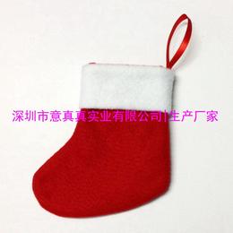 深圳毛绒玩具厂家定做糖果圣诞袜 迷你圣诞袜 圣诞树装饰品