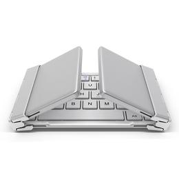 航世双向折叠的三系统通用蓝牙键盘铝合金三折叠蓝牙键盘