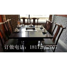 时尚连锁火锅桌餐厅桌椅凳 时尚新颖点菜架批发订做