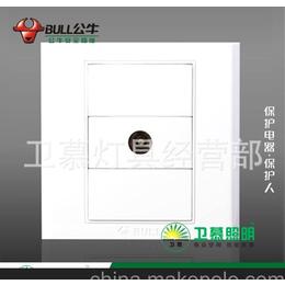 上海泗泾五金城批发正品公牛墙壁开关G05T103一位电视插座缩略图