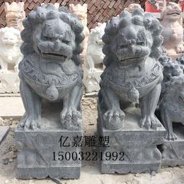 青石石狮 镇宅石狮子 雕刻墓地小狮子