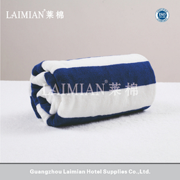 32S进口棉蓝白条色织浴巾 酒店宾馆纯棉浴巾沙滩巾towel