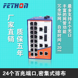 南通24口工业交换机飞崧ESD224M网管工业以太网交换机