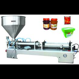 济南专业酱类灌装线厂家特价供应新款容积式全自动牛肉辣酱灌装线