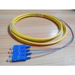 4芯单模束状尾纤SC-UPC四芯尾纤sc尾纤线3米电信级