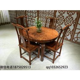 工厂直销现货实木红木巴花大板茶桌餐桌六件套