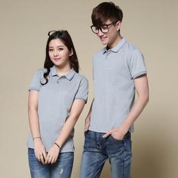 供应青岛韩领T恤亚博国际版情侣款新品套装夏季短袖丝光棉