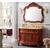 简欧式浴室柜组合 红橡木仿古 落地式雕花洗漱台缩略图1