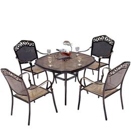 户外铸铝桌椅 花园桌椅组合 别墅庭院休闲家具五件套绿森源户外