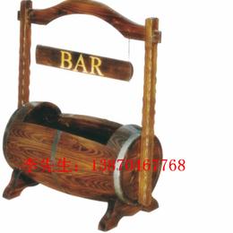 手提酒桶防腐木酒桶 实木酒桶 碳化木酒桶 酒吧酒桶酒柜