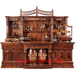 防腐木经典吧台  大酒吧台实木吧台