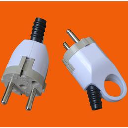 伊兰达供应直角可拆装可接线带接地欧式电源插头