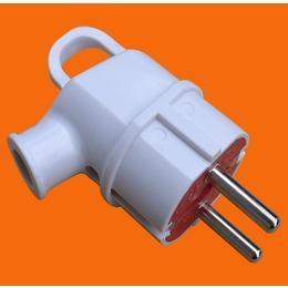 伊兰达供应直角可拆卸可接线带接地欧式插头