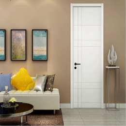 简约室内门卧室木门 油漆套装门 定制木门白混油缩略图