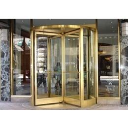 旋转门2017扬州不锈钢钛金玫瑰金铂金酒店两翼门厂家报价