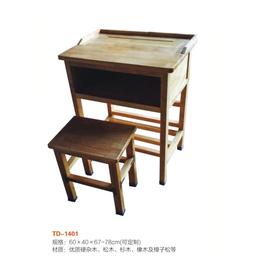 江西 实木单人课桌椅 厂家直销缩略图