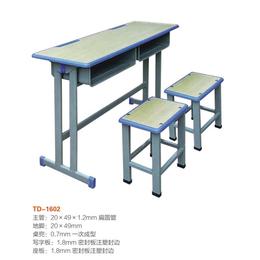 江西双柱双人课桌椅学生学校课桌  厂家直销缩略图