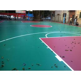 硅PU篮球场材料中山有心体育造价格优惠更安全
