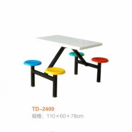 江西 学校食堂连体椅 多人饭桌