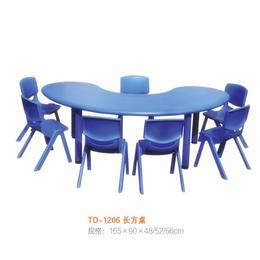 江西幼儿彩色园多人桌椅拼接桌椅