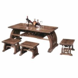 江西防腐木桌椅 咖啡桌椅