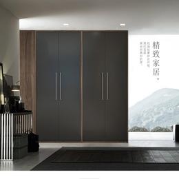 北欧木质衣柜四门卧室储物大衣橱立柜收纳推门板式多功能缩略图