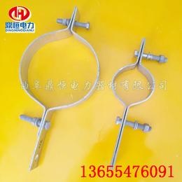 供应ADSS光缆金具  双长尾抱箍  吊线抱箍  不锈钢抱箍