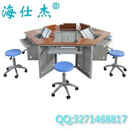 海仕杰DNZ-6000电脑桌厂家 钢制六角翻转电脑桌报价