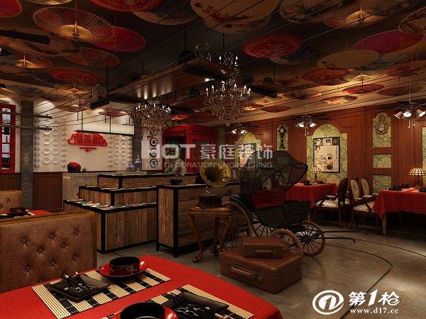 山东豪庭装饰-民国风主题餐厅装修设计