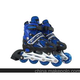 新款时尚儿童轮滑鞋,溜冰鞋,PU轮单闪旱冰鞋,轮滑鞋,直排鞋