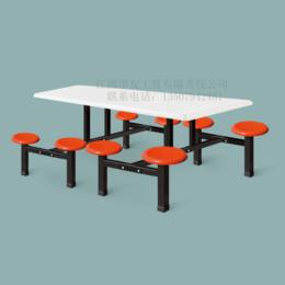 学校员工食堂8人餐桌椅