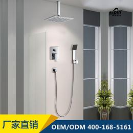 伊品卫浴厂家直销 顶喷淋浴器款式简洁 暗装入墙式淋浴花洒