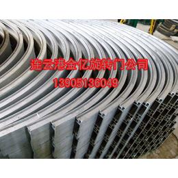 旋转门铝型材_立柱帽头框架铝材整体拼装_厂家金亿