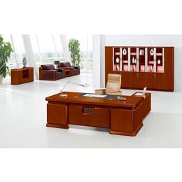 油漆泰釉木色事业单位总裁用大班台