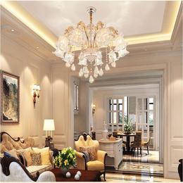 锌合金水晶客厅吊灯欧式别墅蜡烛吊灯
