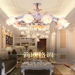 欧式卧室水晶灯具田园餐厅吊灯锌合金客厅吊灯