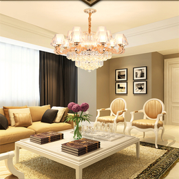 欧式水晶吊灯现代简欧水晶客厅缩略图