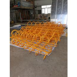 厂家直销自行车停放架不锈钢碳素钢卡位式停放架缩略图
