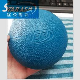 pu发泡海绵弹力球 6.3PU球足篮高尔夫海绵球恶搞表情球