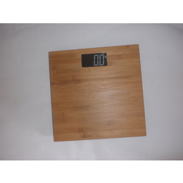 新款竹制人体脂肪秤 时尚简约电子秤竹面板 环保竹木健康体重秤