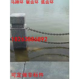 护栏跟铁链怎么链接  护栏跟链条连接方式  链条连接环