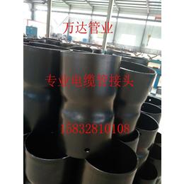 电缆套管接头扩口接头生产厂家热浸塑钢质电缆保护管扩口接头