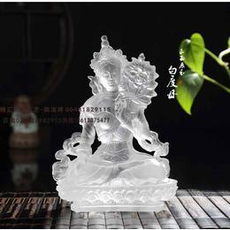 河北石家庄白度母菩萨佛像 古法琉璃白度母佛像寺庙供养