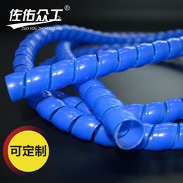 厂家直销 液压黑色螺旋胶管保护套 机械液压塑料水管护套