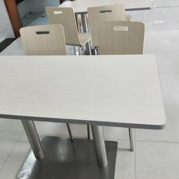 簡約食堂餐桌椅連體快餐店餐桌缩略图