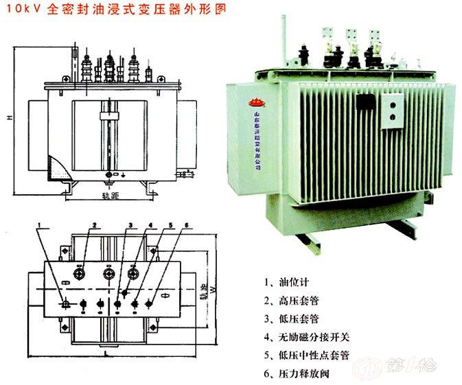 泰鑫s11-800kva油浸式变压器图片