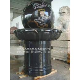 泉州石雕厂山西黑风水球出售催财镇宅风水石球