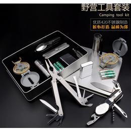 厂家直销多功能小刀钳户外野餐工具套装多用途野营求生装备