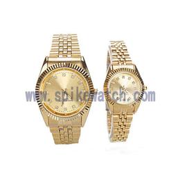 内外贸货源新款高档商务金色不锈钢情侣手表