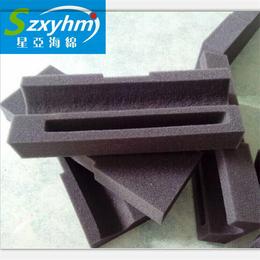 供应蓝色绒布双层复合海绵包装内衬  卡尺内胆盒来图定做包装